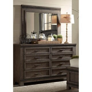 Thornwood Hills Rock Beaten Grey Dresser and Mirror
