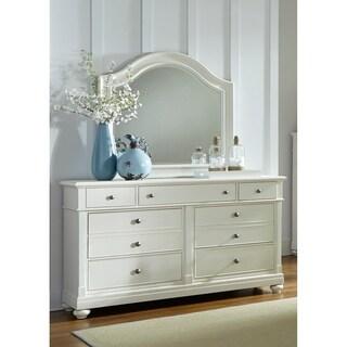 Elegant Harbor View II White Dresser And Mirror