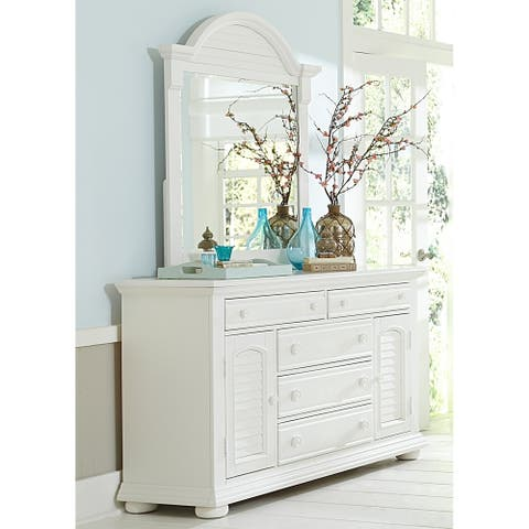 Summer House I Oyster White Dresser and Mirror