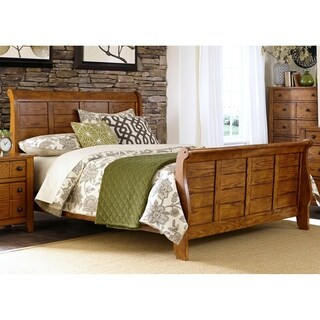 Liberty Grandpa's Cabin Oak Queen Sleigh Bed
