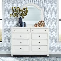 Harbor View II White Opt Dresser and Mirror