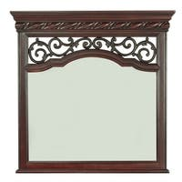 Arbor Place Brownstone Landscape Mirror - Brown