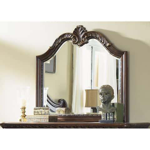 Highland Court Rich Cognac Landscape Mirror