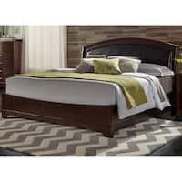 Avalon Dark Truffle Queen Leather Bed