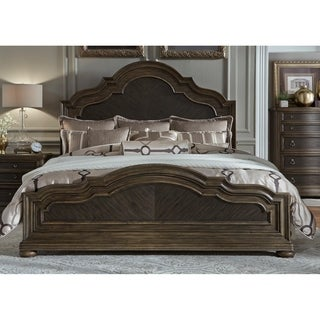 Valley Springs Wire Brushed Light and Dark Chestnut King Panel Bed