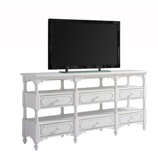 Universal Furniture Paula Deen Bungalow Oleander Finish Wood 6-drawer Weekender Console