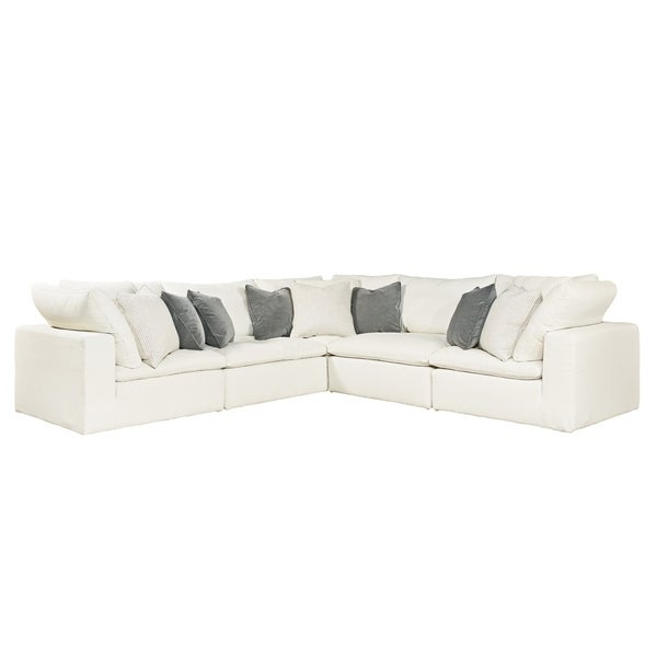 online store 82f1b d9681 Curated Ivory 5-piece Palmer Sectional Sofa