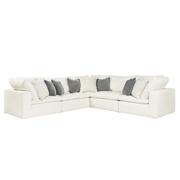 Curated Ivory 5 Piece Palmer Sectional Sofa