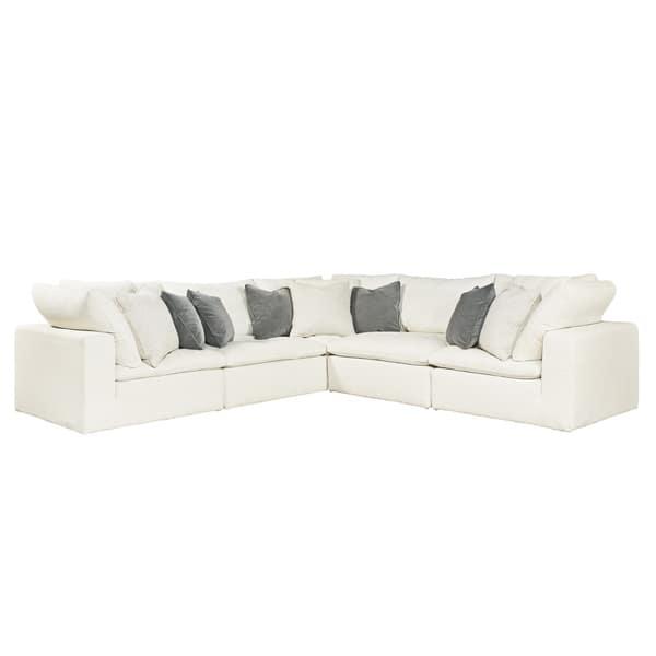 Fine Curated Ivory 5 Piece Palmer Sectional Sofa Creativecarmelina Interior Chair Design Creativecarmelinacom
