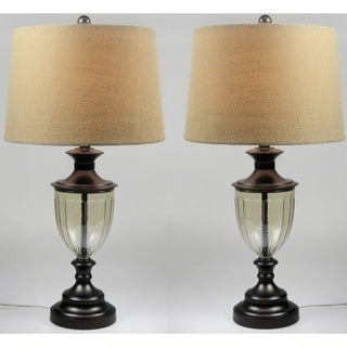 Karlene Black Matte Finish Table Lamp Set of 2 - 28 inches height