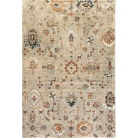Lea Light Grey Indoor Area Rug - 3'11 x 5'7