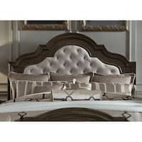 Valley Springs Dark Chestnut Opt Queen Upholstered Bed