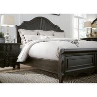 Chesapeake Wire Brushed Antique Black King Sleigh Bed
