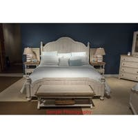 Havenside Home Gwynn Antique White Wood King Poster Bed
