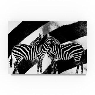 Ata Alishahi 'Zebra' Canvas Art