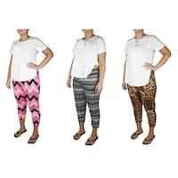 Lucy Diamonds Women's Plus Size Tapered Leg Pull-On Capri Pants
