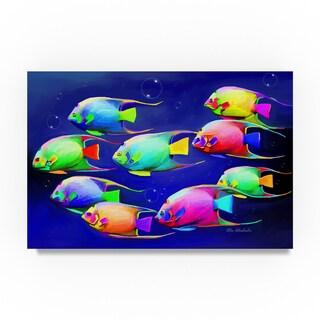 Ata Alishahi 'Colorful Fishes 2' Canvas Art