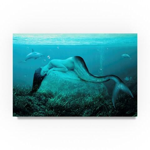 Ata Alishahi 'Sleeping Mermaid' Canvas Art