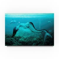 Ata Alishahi 'Sleeping Mermaid' Canvas Art