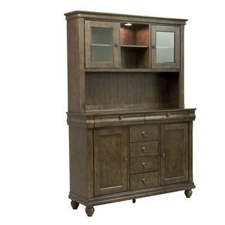 Rustic Tradition Cherry Server and Hutch