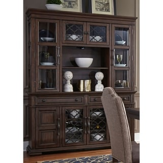 Liberty Lucca Cordovan Brown Hutch and Buffet