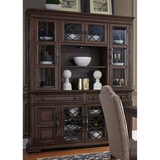 Lucca Cordovan Brown Hutch and Buffet