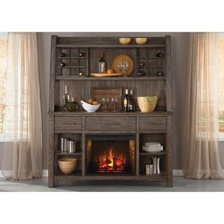 Stone Brook Rustic Saddle Hutch and Buffet