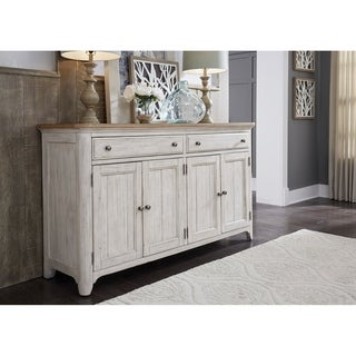 Farmhouse Reimagined Antique White and Chestnut Tops Server