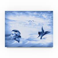Ata Alishahi 'Lone Mermaid' Canvas Art