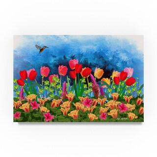 Ata Alishahi 'Tulips' Canvas Art