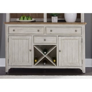 White Hutch Buffet With Wood Top By Home Styles Free