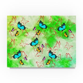 Ata Alishahi 'Butterflies' Canvas Art