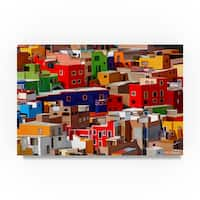 Ata Alishahi 'Color Town' Canvas Art