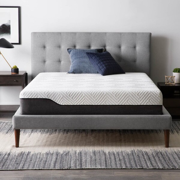 LUCID Comfort Collection 10-inch King-size Bamboo Charcoal Memory Foam Hybrid Mattress