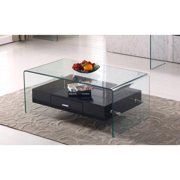 Best Quality Furniture Black 2-Piece Coffee and End Table Set