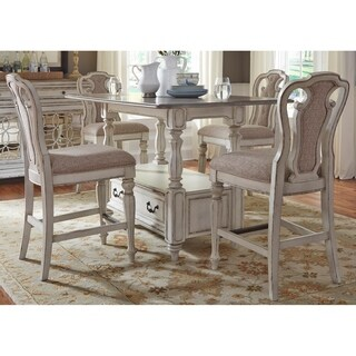 Magnolia Manor Antique White 5-piece Counter Height Gathering Set