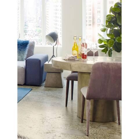 Aurelle Home Dark Grey Concrete Kitchen Table