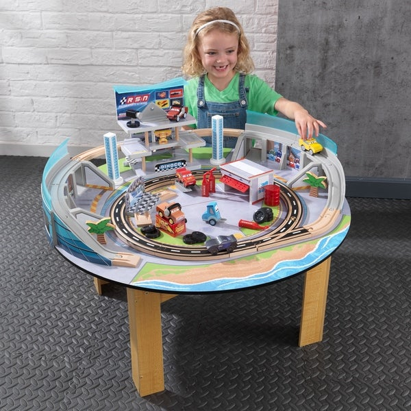 KidKraft Disney Pixar Cars 3 Florida Racetrack Set and Table  sc 1 st  Overstock : cars table set - pezcame.com