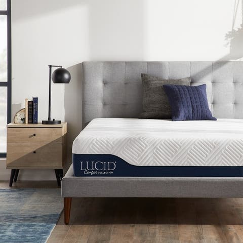LUCID Comfort Collection 12-inch Gel and Aloe Vera Hybrid Memory Foam Mattress