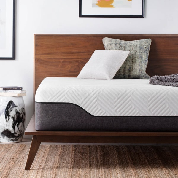 LUCID Comfort Collection 12-inch California King-size Bamboo Charcoal Memory Foam Hybrid Mattress