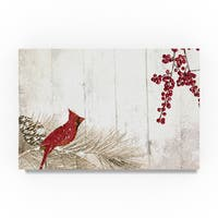 Color Bakery 'Cardinal Christmas V' Canvas Art