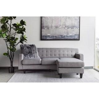Aurelle Home Dark Grey Reversible Modern Sectional Sofa