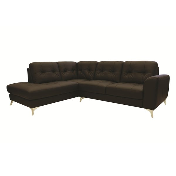 Charmant Aurelle Home Leather Contemporary Modern Sectional Sofa