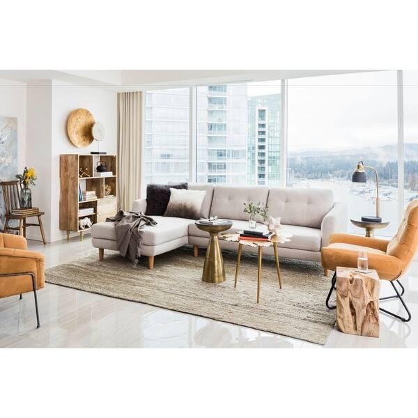 Shop Aurelle Home Mid-Century Sectional Sofa - On Sale ...