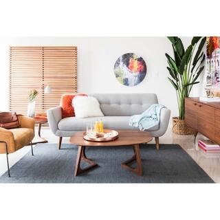 Aurelle Home Svend Dark Grey Mid Century Modern Sofa