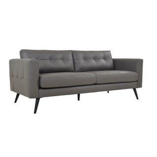 Aurelle Home Scandinavian Soft Leather Sofa