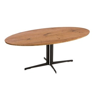 Aurelle Home Solid Live Edge Wood Dining Table