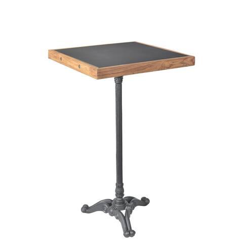 Aurelle Home Dark Grey Iron Contemporary Modern Bar Table
