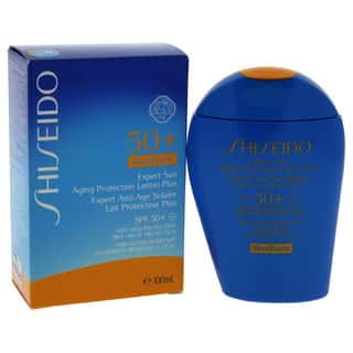 Shiseido Expert Sun Aging 3.4-ounce Protection Lotion Plus WetForce SPF 50|https://ak1.ostkcdn.com/images/products/18707073/P24796098.jpg?impolicy=medium