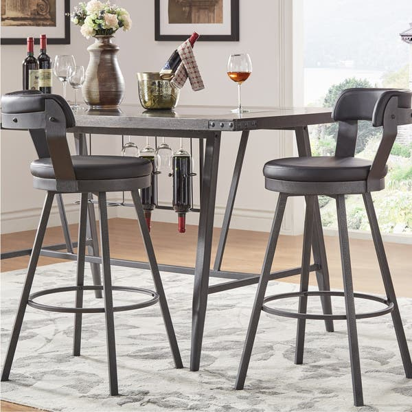Pleasing Shop Harley Faux Leather And Metal Swivel Stools Set Of 2 Uwap Interior Chair Design Uwaporg